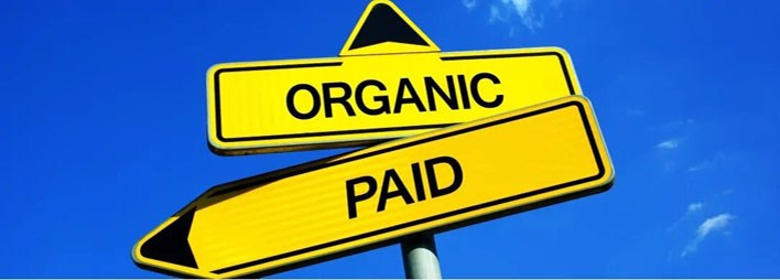 organic vs. paid b2b traffic